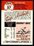 1991 Topps 1953 Archives #57  Carl Scheib  Back Thumbnail