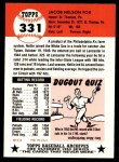 1953 Topps Archives #331  Nellie Fox  Back Thumbnail