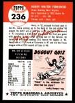 1991 Topps 1953 Archives #236  Harry Perkowski  Back Thumbnail
