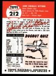 1953 Topps Archives #212  Jack Dittmer  Back Thumbnail