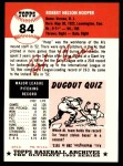 1953 Topps Archives #84  Bob Hooper  Back Thumbnail