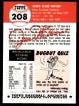 1953 Topps Archives #208  Jim Wilson  Back Thumbnail