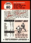 1953 Topps Archives #80  Jim Hegan  Back Thumbnail
