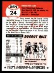 1991 Topps 1953 Archives #24  Ferris Fain  Back Thumbnail