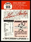 1953 Topps Archives #215  Gene Conley  Back Thumbnail