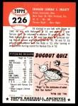 1991 Topps 1953 Archives #226  Ed Erautt  Back Thumbnail