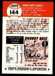 1953 Topps Archives #144  Bob Schultz  Back Thumbnail
