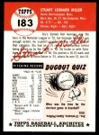 1991 Topps 1953 Archives #183  Stu Miller  Back Thumbnail