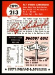1953 Topps Archives #213  Ray Scarborough  Back Thumbnail