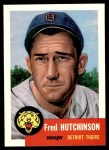 1991 Topps 1953 Archives #72  Fred Hutchinson  Front Thumbnail