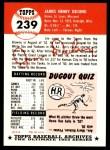 1953 Topps Archives #239  Jim Delsing  Back Thumbnail