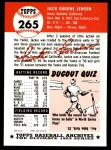 1991 Topps 1953 Archives #265  Jackie Jensen  Back Thumbnail