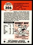 1953 Topps Archives #306  Bobo Holloman  Back Thumbnail