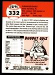 1953 Topps Archives #332  Eleanor Engle  Back Thumbnail