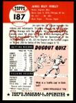 1953 Topps Archives #187  Jim Fridley  Back Thumbnail