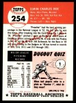 1953 Topps Archives #254  Preacher Roe  Back Thumbnail