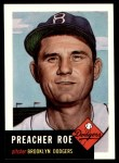 1991 Topps 1953 Archives #254  Preacher Roe  Front Thumbnail