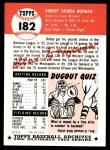 1953 Topps Archives #182  Bobby Hofman  Back Thumbnail