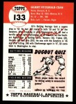 1991 Topps 1953 Archives #133  Gil Coan  Back Thumbnail