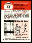 1953 Topps Archives #41  Enos Slaughter  Back Thumbnail