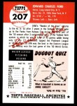 1953 Topps Archives #207  Whitey Ford  Back Thumbnail