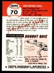 1991 Topps 1953 Archives #70  Ed Yuhas  Back Thumbnail