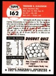 1991 Topps 1953 Archives #162  Ted Kluszewski  Back Thumbnail