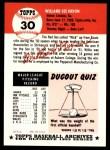 1953 Topps Archives #30  Willard Nixon  Back Thumbnail