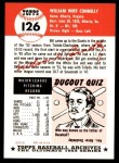 1953 Topps Archives #126  Bill Connelly  Back Thumbnail