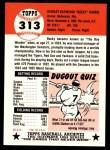 1953 Topps Archives #313  Bucky Harris  Back Thumbnail