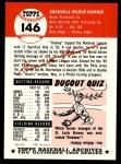 1953 Topps Archives #146  Granny Hamner  Back Thumbnail