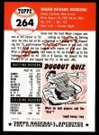 1953 Topps Archives #264  Gene Woodling  Back Thumbnail