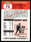 1991 Topps 1953 Archives #73  Eddie Robinson  Back Thumbnail