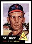 1991 Topps 1953 Archives #68  Del Rice  Front Thumbnail