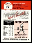 1991 Topps 1953 Archives #19  Mel Parnell  Back Thumbnail