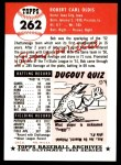 1953 Topps Archives #262  Bob Oldis  Back Thumbnail