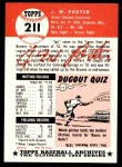 1953 Topps Archives #211  J.W. Porter  Back Thumbnail