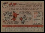 1958 Topps #427  Al Worthington  Back Thumbnail