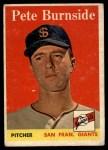 1958 Topps #211  Pete Burnside  Front Thumbnail