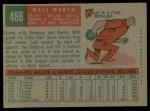 1959 Topps #488  Walt Moryn  Back Thumbnail