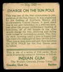 1933 Goudey Indian Gum #163   Charge on Sun Pole  Back Thumbnail