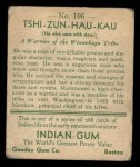 1933 Goudey Indian Gum #196  Tshi-Zun-Hau-Kau   Back Thumbnail