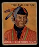 1933 Goudey Indian Gum #196  Tshi-Zun-Hau-Kau   Front Thumbnail