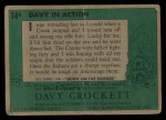 1956 Topps Davy Crockett #14 GRN  Davy in Action  Back Thumbnail