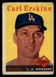 1958 Topps #258  Carl Erskine  Front Thumbnail