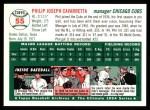 1994 Topps 1954 Archives #55  Phil Cavarretta  Back Thumbnail