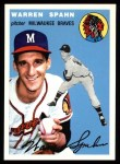 1954 Topps Archives #20  Warren Spahn  Front Thumbnail