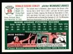 1954 Topps Archives #59  Gene Conley  Back Thumbnail