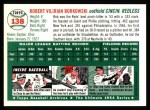 1994 Topps 1954 Archives #138  Bob Borkowski  Back Thumbnail