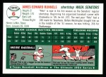 1994 Topps 1954 Archives #6  Pete Runnels  Back Thumbnail